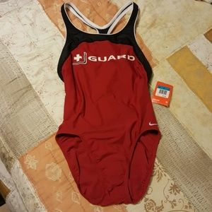 NWT NikeSwim Racerback Lifeguard Swimsuit